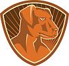 Border-Collie-Schäferhund Schild Retro