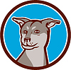 Husky Shar Pei Kreuz Hundekopf Cartoon