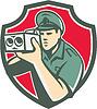 Policeman Speed Camera Schild Retro