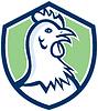 Huhn-Henne Leiter Seitenschutz Cartoon
