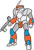 Mecha Roboter, der Strahln-Gewehr
