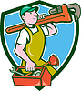 Plumber Trage Monkey Wrench Toolbox Crest