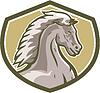 Colt Horse Head Seitenschutz Retro