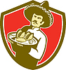 Mexican Chef-Koch-Serving Taco Plattenschild