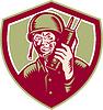 Weltkrieg Soldat amerikanischen Talk Radio Crest