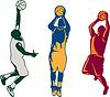Basketball-Spieler-Schießen Retro-Sammlung