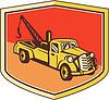 Weinlese-Tow Truck Wrecker Schild Retro