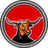 Texas Longhorn Red Bull Kreis Retro