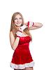 Piękne sexy girl noszenie Santa Claus ubrania | Stock Foto