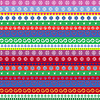 Weihnachten gestreiften nahtlose Muster