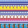 Weihnachten gestreiften nahtlose Muster mit Rentier