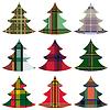 Set von Weihnachtsbäumen mit keltischen Ornament