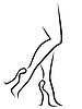 Abstrakt nogi kobiet w stylowych butów | Stock Vector Graphics