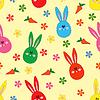 Nahtloses Muster mit Ostern-Motiv