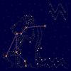 Znak zodiaku: Wodnik na rozgwieżdżone niebo | Stock Vector Graphics