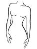 Streszczenie wdzięku postać kobieca | Stock Vector Graphics