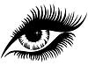 Векторный клипарт: Женский глаз черный силуэт