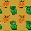 Векторный клипарт: Бесшовные шаблон с мультяшныйа совы