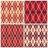 Vier rhombischen nahtlose Muster in Rottönen