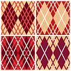 Vier rhombischen nahtlose Muster