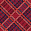 Tartan nahtlose Diagonale Textur in rot und blau