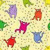 Nahtlose Muster mit lustigen Katzen
