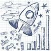 Векторный клипарт: Ракета взлетает график