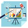 Векторный клипарт: Презентация концепции развития бизнеса