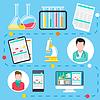 Векторный клипарт: Онлайн консультация врача и диагностика