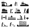 Векторный клипарт: Набор строителя иконок строительной индустрии