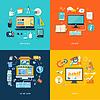 Векторный клипарт: Интернет-магазин веб-дизайн передать содержимое