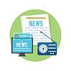 Векторный клипарт: СМИ Концепция газеты весточки радио
