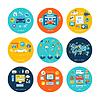 Auto-Waschanlagen Social-Media-Online-Shop | Stock Vektrografik