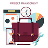 Flache Bauweise des Projektmanagements