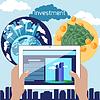 Инвестиции в недвижимость в плоском концепции дизайна | Векторный клипарт