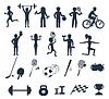 Übungen mit Gewichten und Aufwärm Symbole