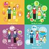 Familie mit Kinder Kinder Menschen Konzept