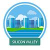 办公楼硅谷 | 向量插图