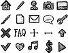 Векторный клипарт: Рисованные иконки пастелью или карандашом