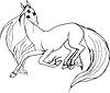 Векторный клипарт: Единорог- лошадь