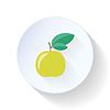Jabłko płaskim ikona   Stock Vector Graphics