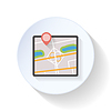 GPS Karte flach icon