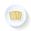 Brot flach Symbol
