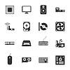 Peryferia i części czarne i białe | Stock Vector Graphics