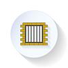 Więzienie płaskim ikona | Stock Vector Graphics