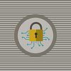 Cyber-Sicherheit Flach Symbol