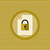 Dokumentenschutz flach Symbol