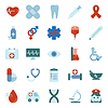 Medical flachen Icons Set