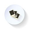 Puste zdjęcia starannie ułożone płasko ikonę | Stock Vector Graphics
