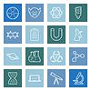 Wissenschaft Linien-Icons Set